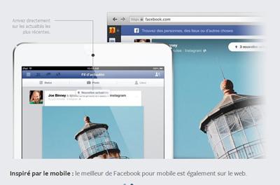 Facebook smartphone mise à jour