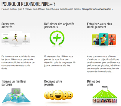 Nike plus plateforme mobile