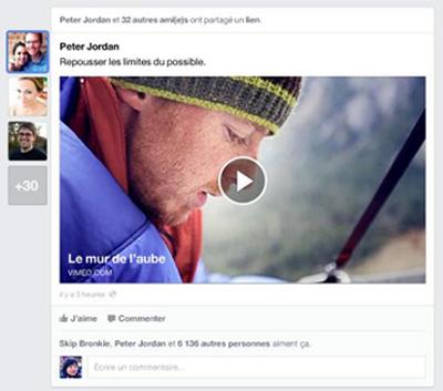 Facebook sur tablette et smartphone