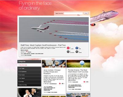 Virgin atlantic blog participatif