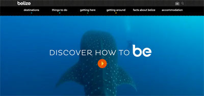 vidéo homepage Visit Belize
