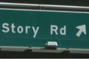 US road sign
