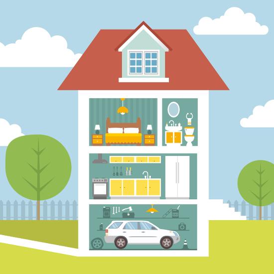 Image interactive -les garanties de l'assurance habitation à connaître