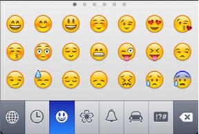 keyboard Apple emoji