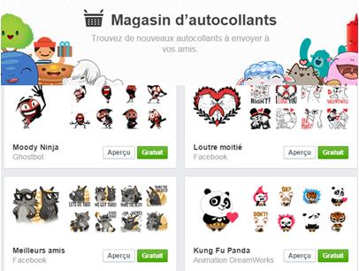 Facebook autocollant stickers